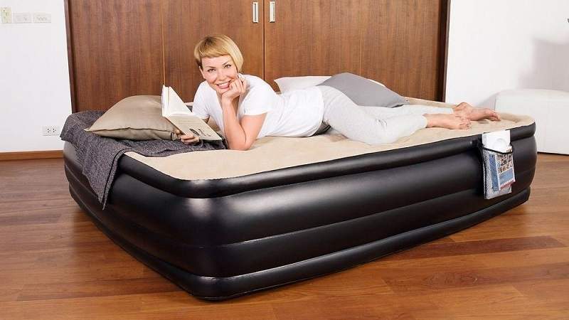how to make air bed more comfortable